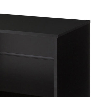 60 Wood and Metal Entertainment TV Stand with 2 Drawers Brown and Black By The Urban Port UPT-225265