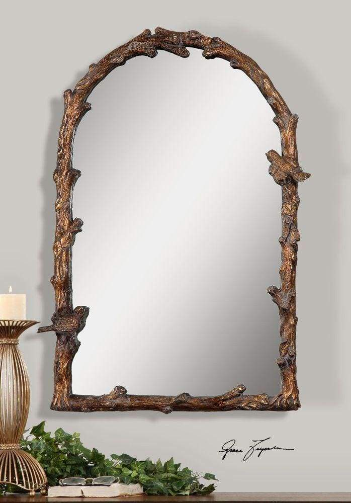Paza Antique Gold Arch Mirror By Uttermost