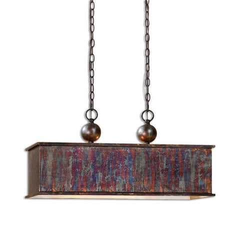 "CHLOE Lighting IRONCLAD Industrial-style 1 Light Antique Brass Ceiling Mini Pendant 18"" Shade"