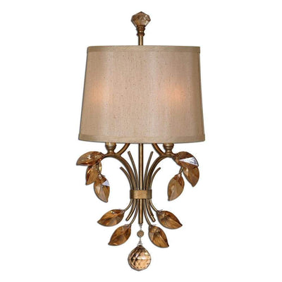 Alenya 2 Light Gold Wall Sconce By Uttermost