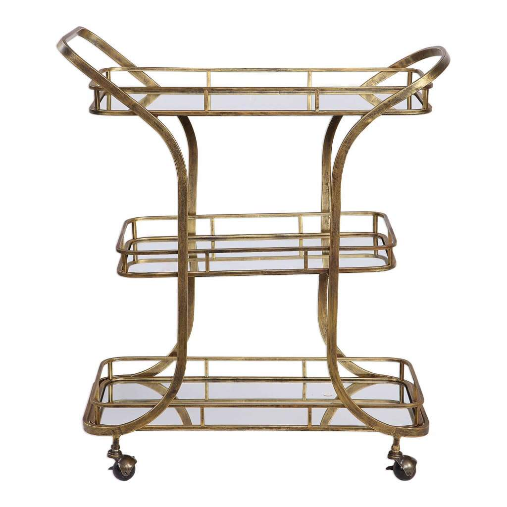 Stassi Gold Serving Cart By Uttermost