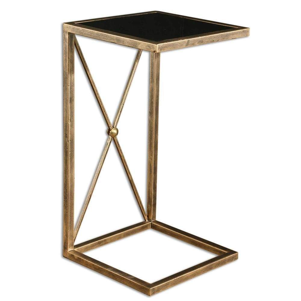 Zafina Gold Side Table By Uttermost