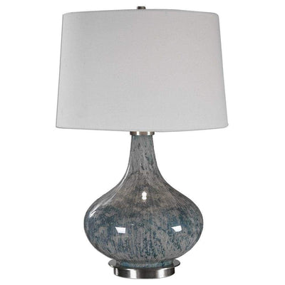 Celinda Blue Gray Glass Lamp By Uttermost