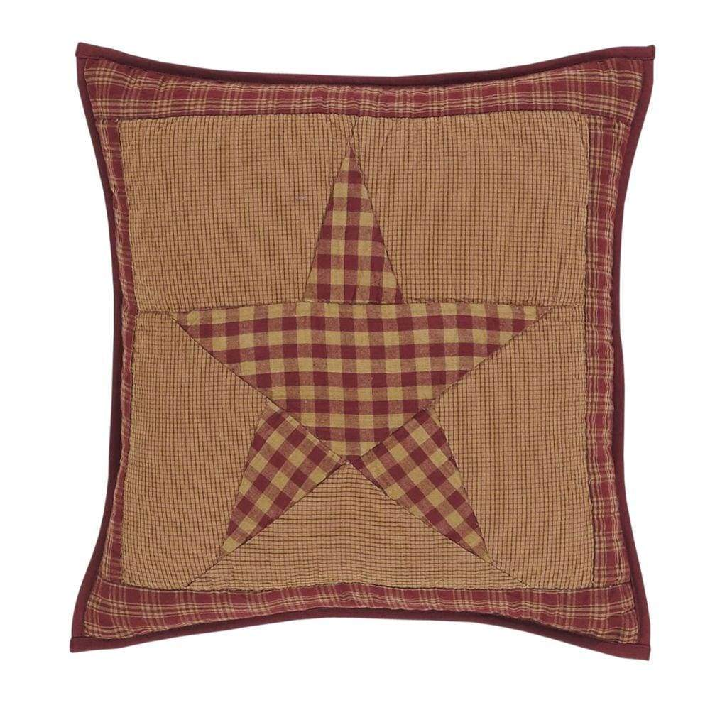 Ninepatch Star Quilted Pillow Cover 16x16