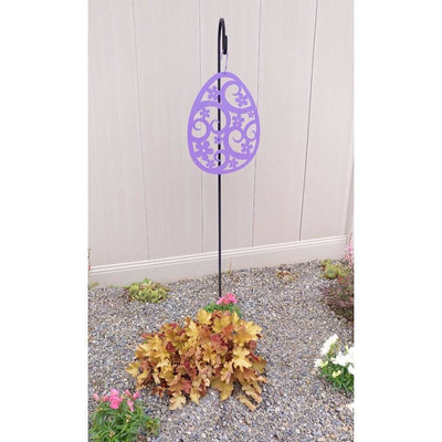 Hanging Silhouette with Metal Easter Egg Design, Purple - HOS-343P