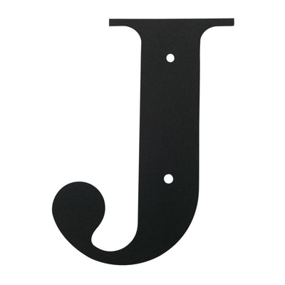 Wall Decor with Metal Crafted Letter J, Small, Black - LET-J-S