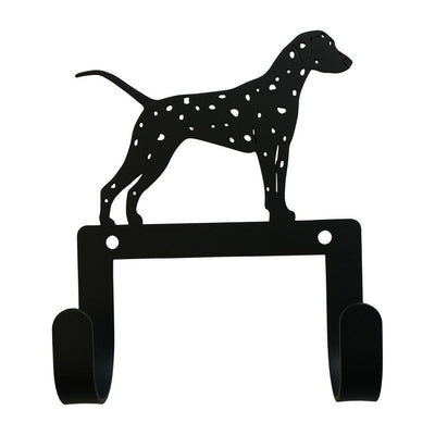 Wall Hook with Dalmatian Dog Accent and 2 Hangers, Black - WH-LC-331