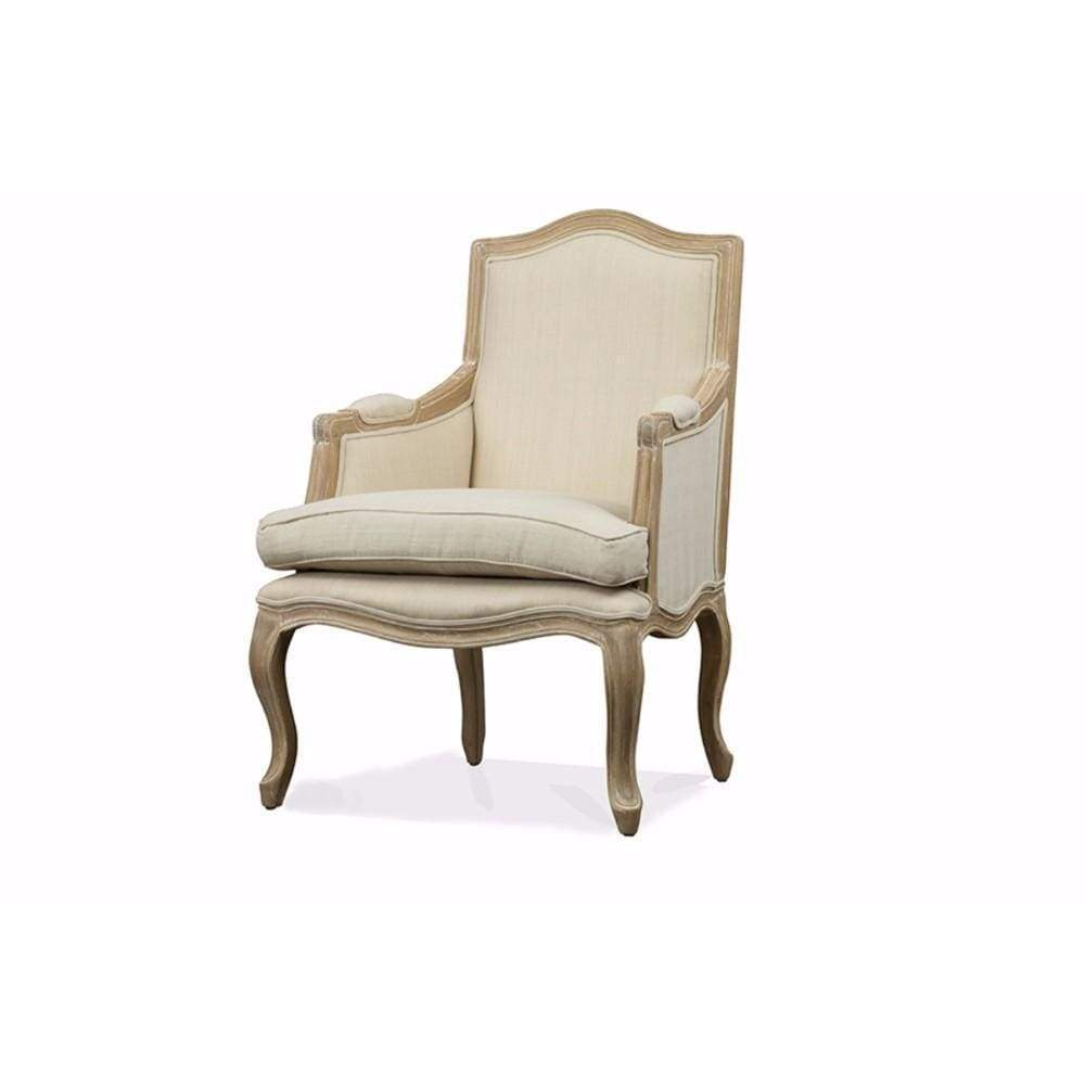 Nivernais Wood Traditional French Accent Chair By Baxton Studio
