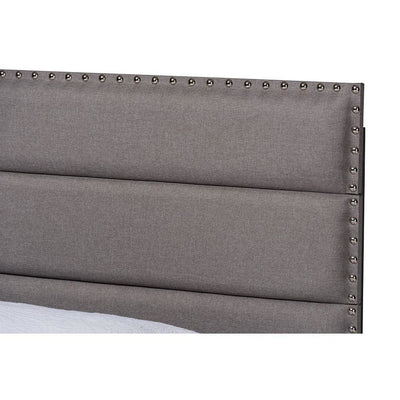 Baxton Studio Ansa Modern and Contemporary Grey Fabric Upholstered Twin Size Bed WHI-CF9084C-Grey-Twin