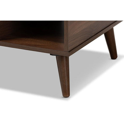 Baxton Studio Linas Mid-Century Modern Walnut Finished Coffee Table WHI-CT8001-Columbia-Walnut-CT