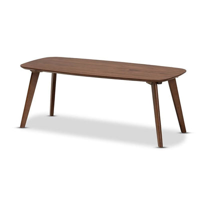 Baxton Studio Dahlia Mid-Century Modern Walnut Finished Coffee Table