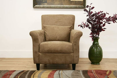 Marquis Tan Microfiber Club Chair By Baxton Studio WHI-LCY-31-CC-4