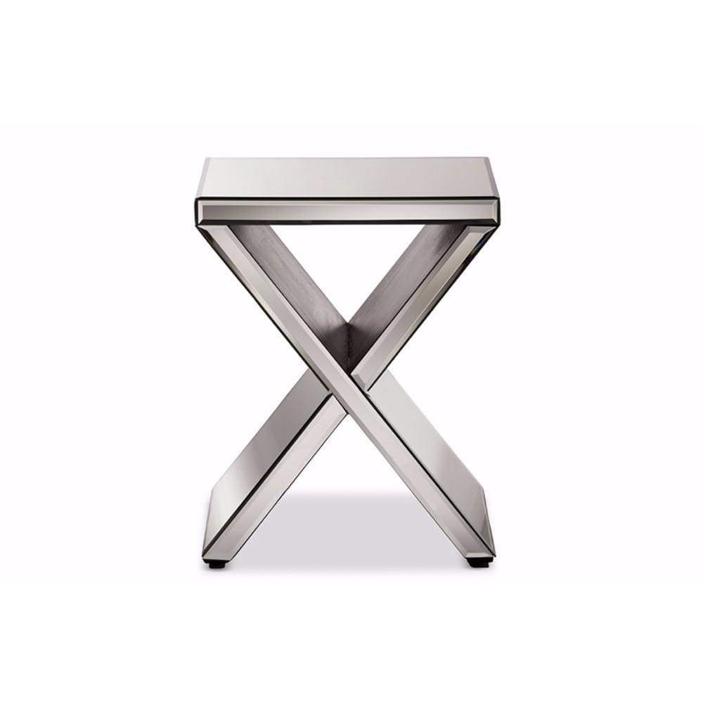Morris Modern And Hollywood Regency Glamour Style Accent Side Table By Baxton Studio