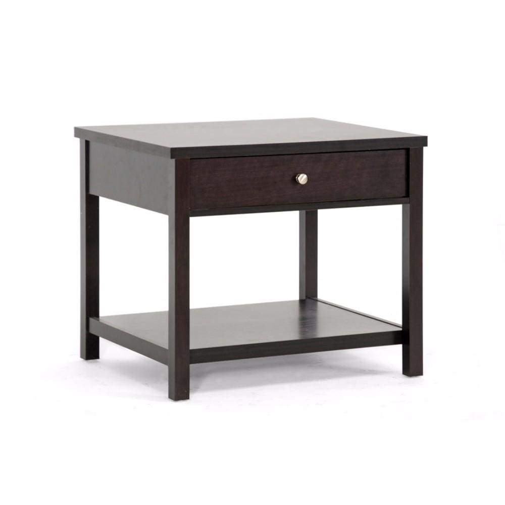 Nashua Brown Modern Accent Table and Nightstand By Baxton Studio