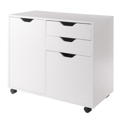 Halifax 2 Section Mobile Filing Cabinet, White By Casagear Home