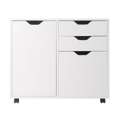 Halifax 2 Section Mobile Filing Cabinet White By Casagear Home WIN-10431