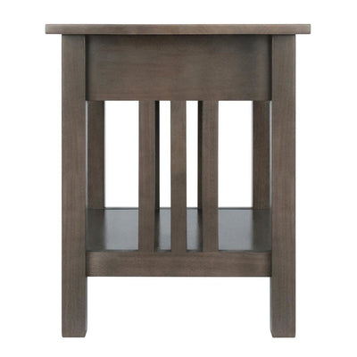 Stafford End Table Oyster Gray By Casagear Home WIN-16018