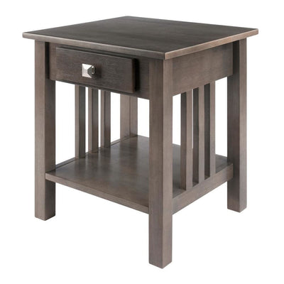 Stafford End Table, Oyster Gray By Casagear Home