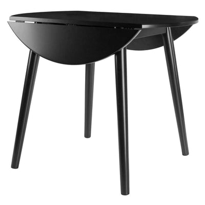 Moreno Round Drop Leaf Dining Table Black By Casagear Home WIN-20036