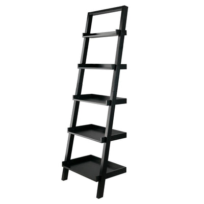 Bellamy Leaning Shelf, Black By Casagear Home