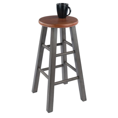 Ivy Counter Stool Rustic Teak & Gray By Casagear Home WIN-36224
