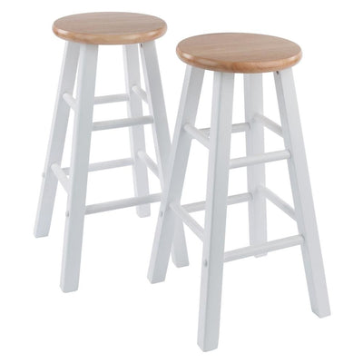 Element Counter Stools, 2-Pc Set, Natural & White By Casagear Home