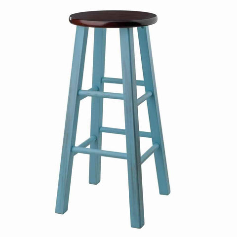 Holly Air Lift Stool with Triple Stitch and L Shaped by Winsome Woods