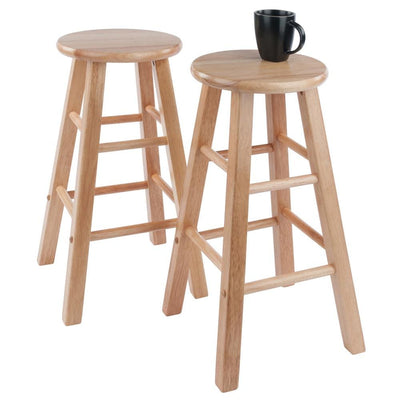 Element Counter Stools 2-Pc Set Natural By Casagear Home WIN-83274