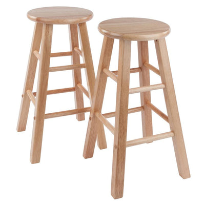 Element Counter Stools, 2-Pc Set, Natural By Casagear Home