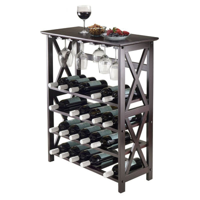 Rio Wine Rack, 24-Bottle, Glass Hanger