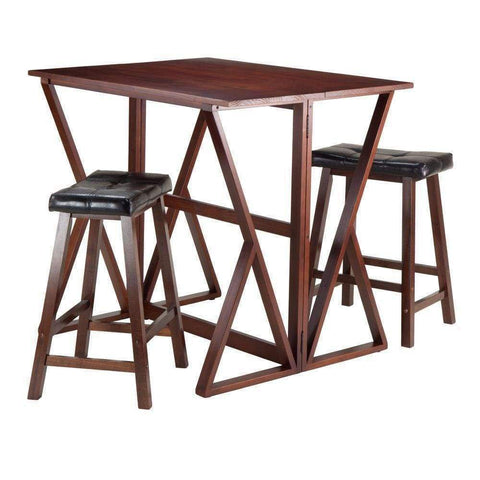 Vasari Bar Stool Walnut by Lumisource