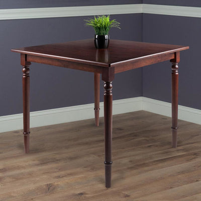 Mornay Square Dining Table Walnut By Casagear Home WIN-94736