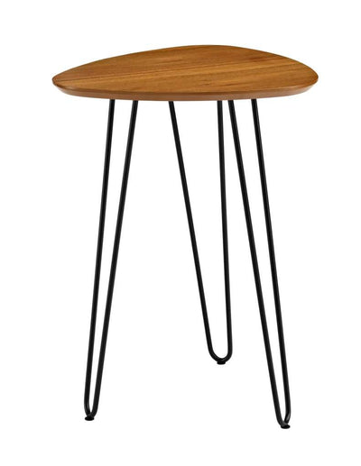 "18"" High Hairpin Leg Guitar Pick Side Table - Walnut"