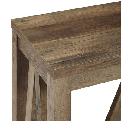 52 A-Frame Rustic Entry Console Table - Rustic Oak WLK-AF52AFTRO