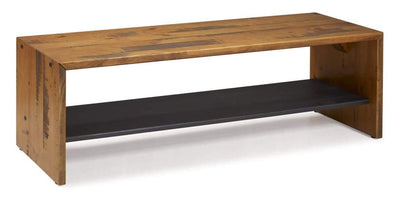 "58"" Solid Rustic Reclaimed Wood Entry Bench - Amber"