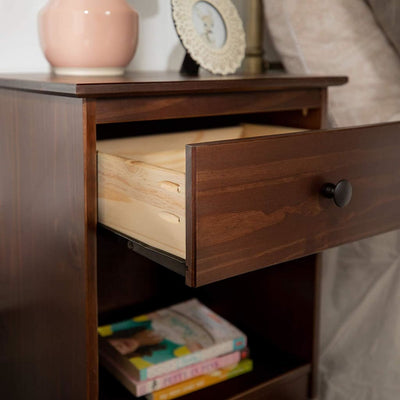 1-Drawer Solid Wood Nightstand - Walnut WLK-BR1DNSWT