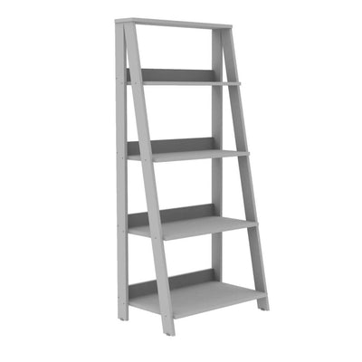 "55"" Wood Ladder Bookshelf - Grey"