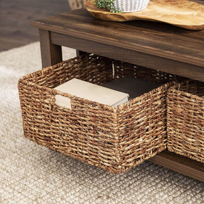 40 Wood Storage Coffee Table with Totes - Dark Walnut WLK-C40MSTDW
