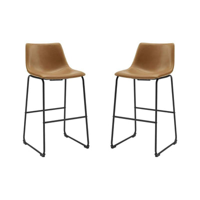 30 Faux Leather Barstool 2 pack - Whiskey Brown WLK-CHL30WB