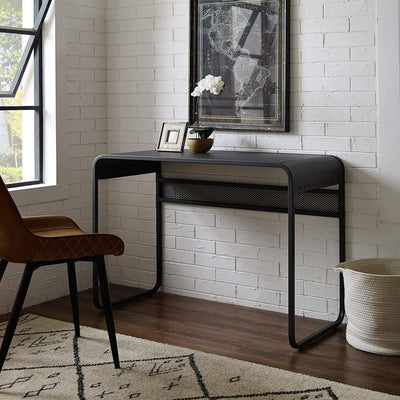 42 Metal Desk with curved top - Gunmetal Grey WLK-DM42CURGY
