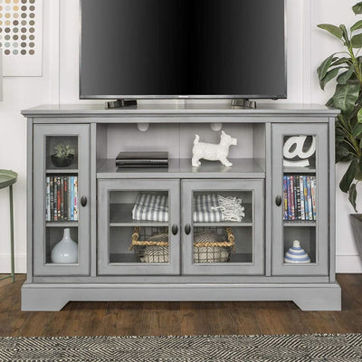 "52"" TV Media Stand Storage Console - Antique Grey"