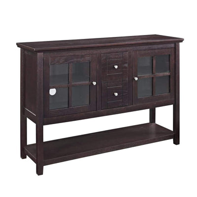 "52"" Wood Console Table Buffet TV Stand - Espresso"