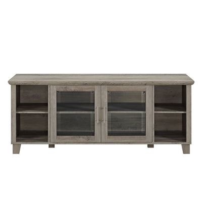 Columbus TV Stand with Middle Doors - Grey Wash