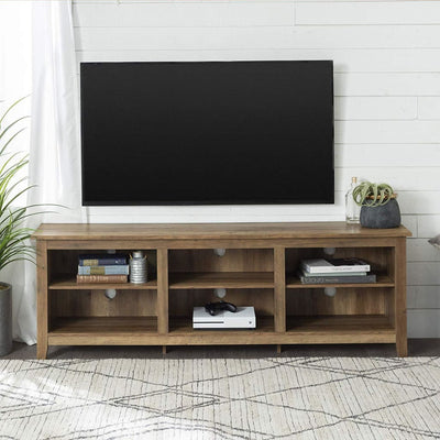 70 Wood Media TV Stand Storage Console - Rustic Oak WLK-W70CSPRO