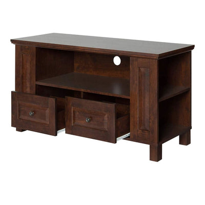 Multi-Purpose Wood TV Console in Traditional Brown by Walker Edison WLK-WQ44CMPTB