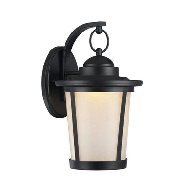 "Abbington Transitional Black 1 Light Outdoor Wall Sconce 13"" Tall"