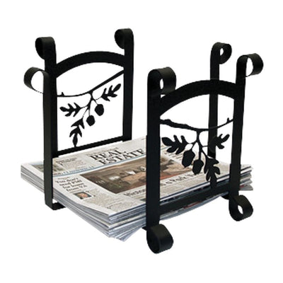 Acorn - Newspaper Recycle Bin -Village Wrought Iron VWI-RB-93