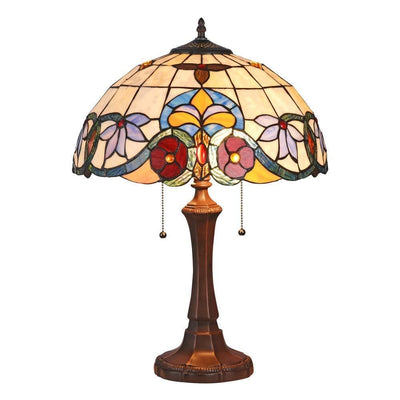 "Adele Tiffany-Style 2 Light Victoriantable Lamp 16"" Shade - CH3T987AV16-TL2"