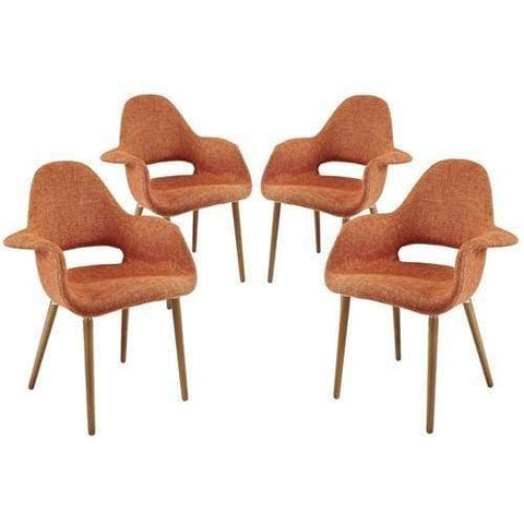 Lippa Dining Vinyl Armchair Orange