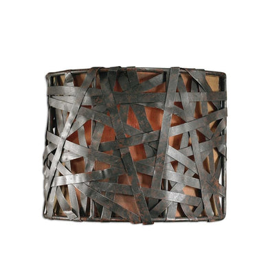 Alita 1 Light Black Wall Sconce By Uttermost